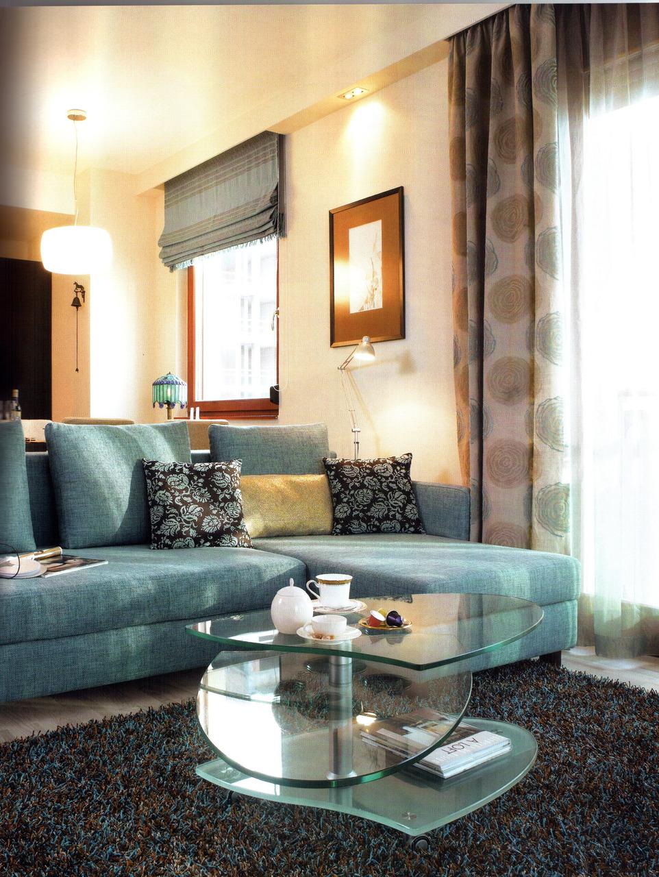 Bézs-türkiz hangulat a nappaliban « Kavalkád – Inspiráció by Néder Melinda