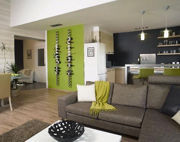 Fali bortartó zöld falon « Kavalkád – Inspiráció by Néder Melinda