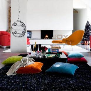 Színes párnák és fotelek