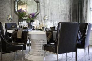 Elegáns étkező kerek asztallal