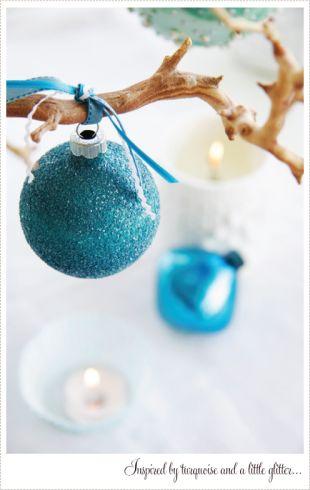 Türkiz karácsonyi dísz