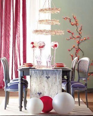Piros-fehér-kék dekoráció