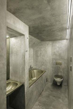 Betonbunker fürdőszoba