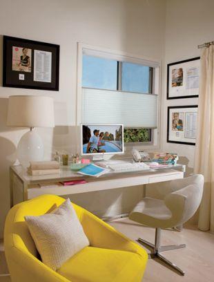 Dolgozó sarok citromsárga fotellel