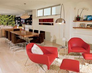 Piros kávézó fotelek