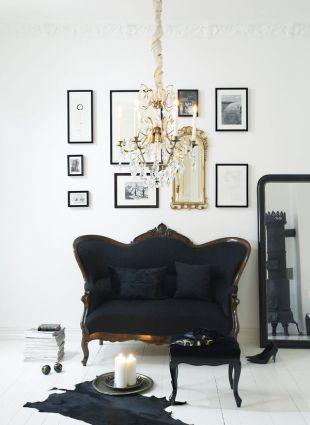Gyönyörűséges fekete fotel
