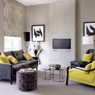 Rideg szürke és sárga nappali