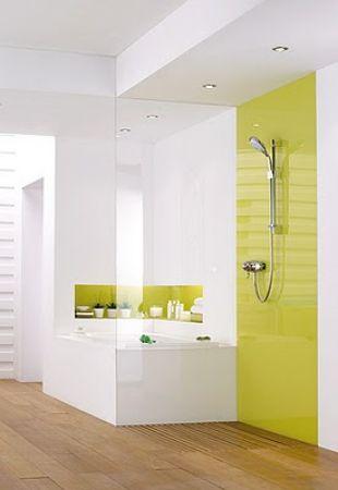 Fehér és lime zöld fürdő