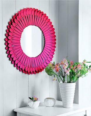 Pink kiskanál tükör
